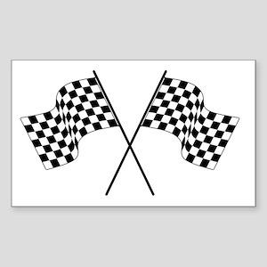 racing car flags Sticker (Rectangle)