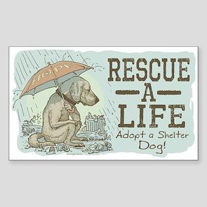 Adopt a Shelter Dog Rectangle Sticker