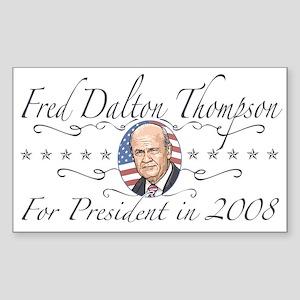 Fred Dalton Thompson Rectangle Sticker