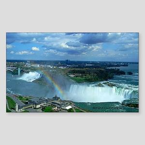 Niagara Falls Rainbow Sticker (Rectangle)