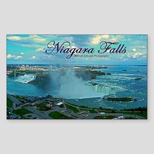 Niagara Falls From Above Sticker (rectangle)