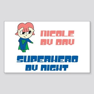 Nicole - Super Hero by Night Rectangle Sticker