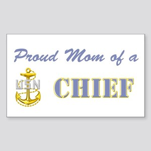 Chief's Mom Rectangle Sticker