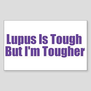 Lupus Is Tough Rectangle Sticker