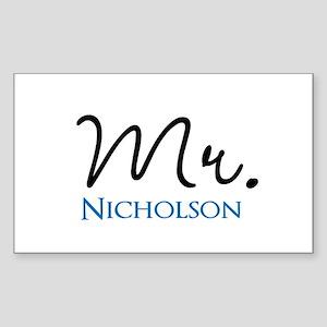 Customizable Name Mr Sticker (Rectangle)