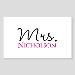 Customizable Name Mrs Sticker (Rectangle)