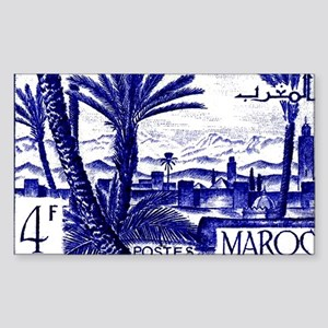 1947 Morocco Marrakesh Postage Sticker (Rectangle)