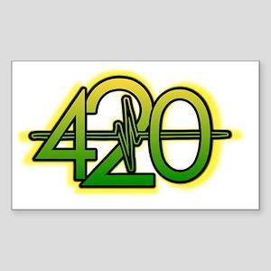 420 YBG Sticker (Rectangle)