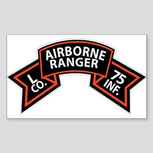 L Co 75th Infantry (Ranger) Scroll Sticker (Rectan
