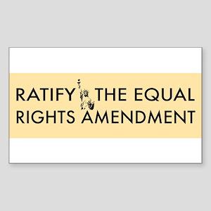 Equal Rights Amendment Sticker (Rectangle)