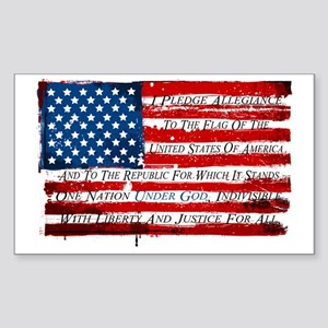 Patriotic Pledge of Allegiance USA Flag Sticker