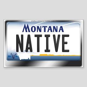 Montana License Plate - [NATIVE] Sticker (Rectangl