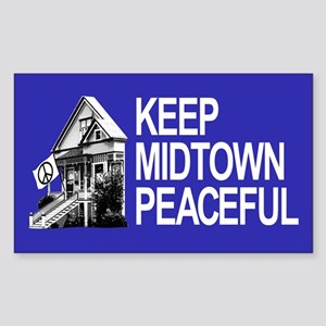 Keep Midtown Peaceful Sticker (Rectangle)