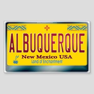 """""""ALBUQUERQUE"""" New Mexico License Plate Sticker (Re"""