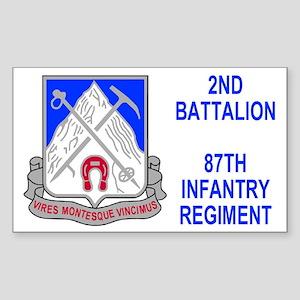 87th Infantry Regiment <BR>Sticker 3