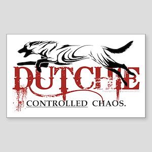 Dutch Shepherd - NEW! Sticker (Rectangle)