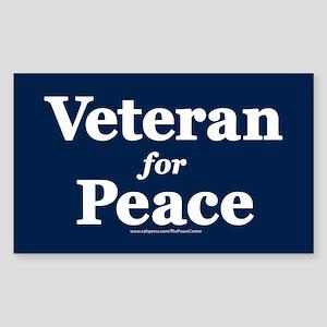 Veteran For Peace Sticker (rectangle)