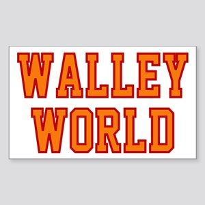 Walley World Orange/Red Logo Sticker (Rectangle)