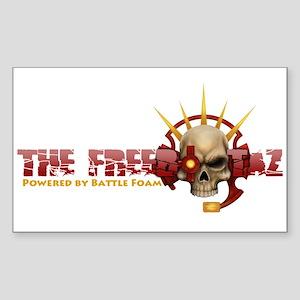 The Freebootaz Logo Sticker (Rectangle)