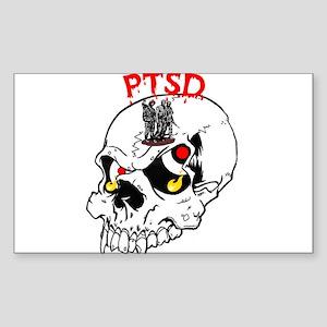 PTSD SKULL Oval Sticker