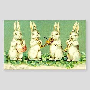 Vintage Musical Easter Bunnies Sticker