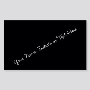 Your Name, Initials or Text Here Sticker