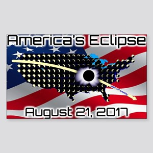 America's Eclipse August 21, 2 Sticker (Rectangle)