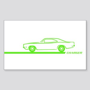 1968-70 Charger Lime Car Rectangle Sticker