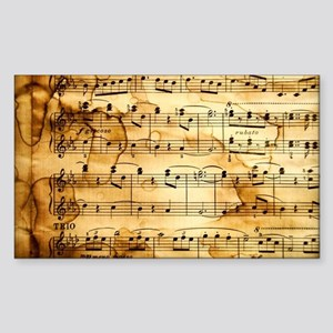Classical Musical Notes Sticker (Rectangle)