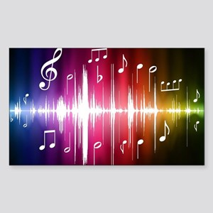 Musical Note Sticker (Rectangle)