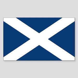 Scottish Flag Rectangle Sticker