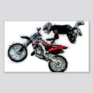 Motocross Jump Paint Splatter Sticker
