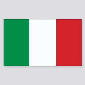 Italy Flag Rectangle Sticker