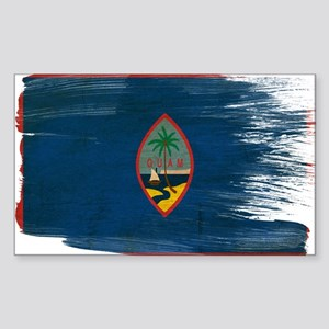 Guam Flag Sticker (Rectangle)