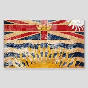 British Columbia Flag Sticker (Rectangle)