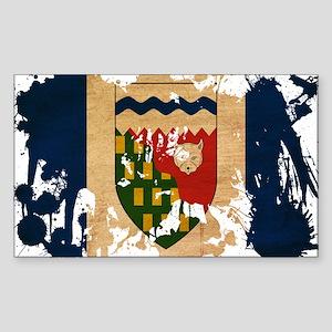 Northwest Territories Flag Sticker (Rectangle)