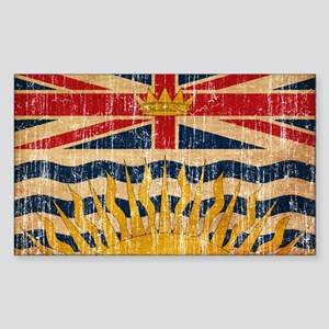 British Columbia Flag Sticker (Rectangle)