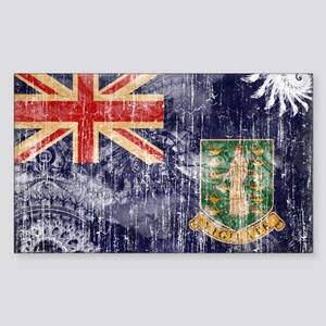 British Virgin Islands Flag Sticker (Rectangle)