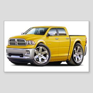 Ram Yellow Dual Cab Sticker (Rectangle)