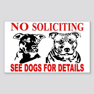 No Soliciting Pitbull Sign Sticker