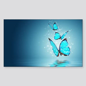 Magic Butterflies Sticker (Rectangle)