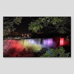 American Falls at night Sticker