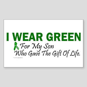 Green For Son Organ Donor Donation Sticker (Rectan