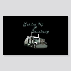 Loaded Up & Trucking Rectangle Sticker