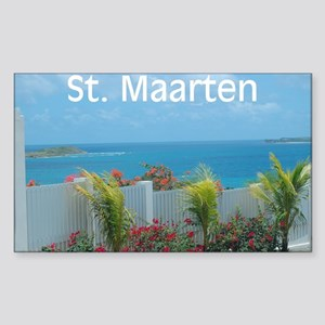 St. Maarten Seascape-1 Rectangle Sticker