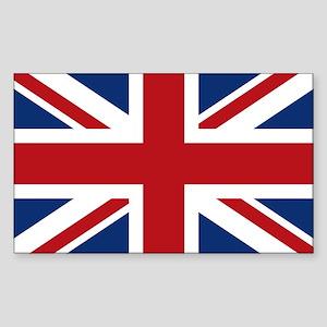 United Kingdom Union Jack Flag Sticker (Rectangle)