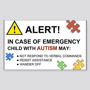 Autism Emergency Warning Sticker for Car