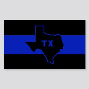 Thin Blue Line - Texas Sticker (Rectangle)