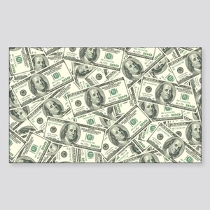 100 Dollar Bill Money Pattern Sticker