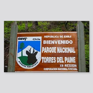 Torres del Paine Sign, Chile Sticker